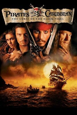 """""""Pirates Of The Caribbean; Curse of the Black Pearl""""..Movie Poster Various Sizes"""