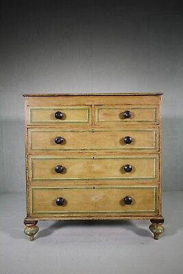 Regency Antique Original Painted Pine Chest of Drawers