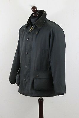 BARBOUR A 105 BEDALE Waxed Cotton Jacket  C 42 / 107 cm Navy Made in England