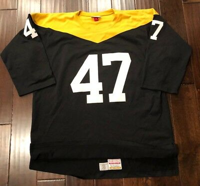 best sneakers 6cbdb 2217a PITTSBURGH STEELERS MITCHELL & Ness Authentic Custom 1967 Home Jersey Men's  52