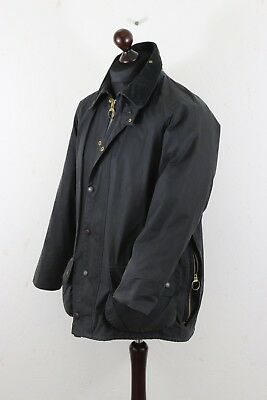 """BARBOUR BEAUFORT Waxed Jacket Thornproof  102 cm / 40 """"  Navy Made in England"""