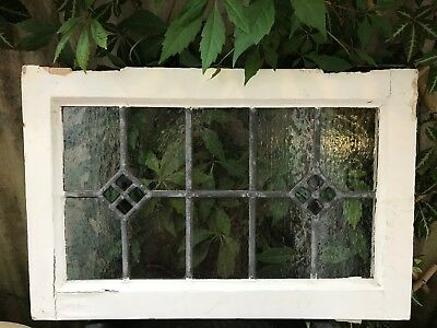 Antique Reclaimed Victorian Leaded Stained Glass Window