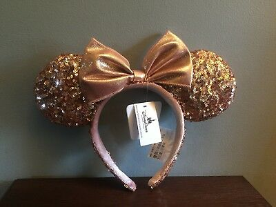 Authentic Disney Parks Rose Gold Minnie Mouse Ears (Brand New with Tags)