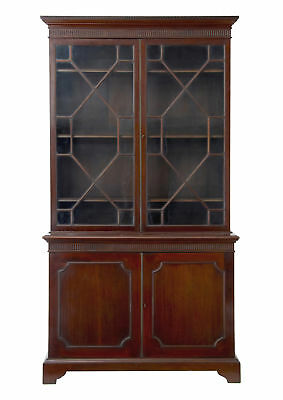 19Th Century Mahogany Glazed Bookcase