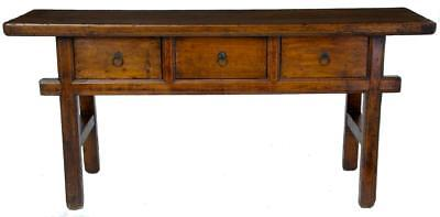 A Fine Elm Three Draw Dresser Very Good Colour