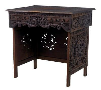 19Th Century Chinese Hardwood Folding Travelling Desk Table