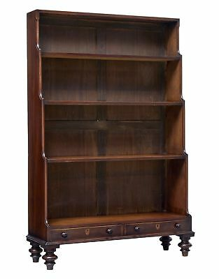 19Th Century Early Victorian Mahogany Waterfall Bookcase
