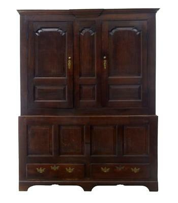 18Th Century English Oak House Keepers Cupboard