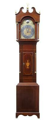 18Th Century Inlaid Mahogany Longcase Clock By William Underwood Of London