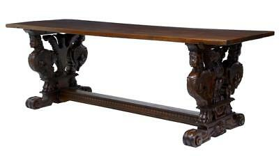 19Th Century Italian Carved Walnut Refectory Dining Table
