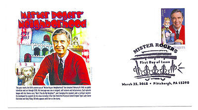 5275 Mister Rogers, Panda Cachets, pictorial cancel, FDC