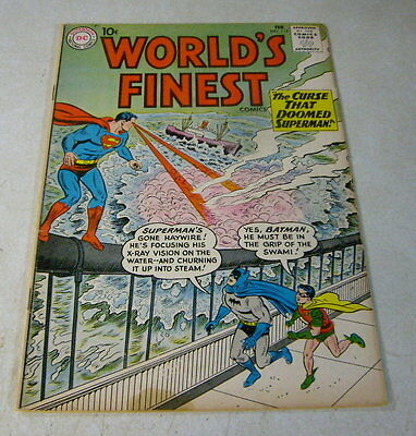 Worlds Finest #115 Batman, Superman, Robin, 1961