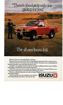 1988 - Isuzu. The All New Isuzu 4 X 4.....big Joe - Vintage Print Ad