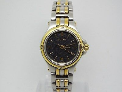 32aed4eee19 GUCCI 9040L TWO Tone Stainless Steel and Gold Ladies Watch with Date ...