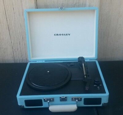 Crosley CR8005A TU Cruiser Turntable Turquoise Vinyl Portable Record Player