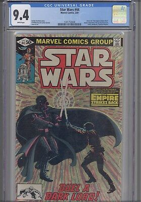 Star Wars #44  CGC 9.4 1981  Marvel  Comic: Conclusion of Empire Strikes Back