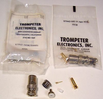 Trompeter PL75-24A Triax Triaxial Cable Connector - Military NSN 5935010754440