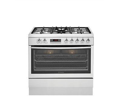 Westinghouse 90cm Dual Fuel Stainless Steel Stove - Model: WFE914SB