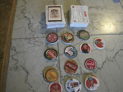 1993 coca cola collect a card 130 card lot 35 pogs  free shipping