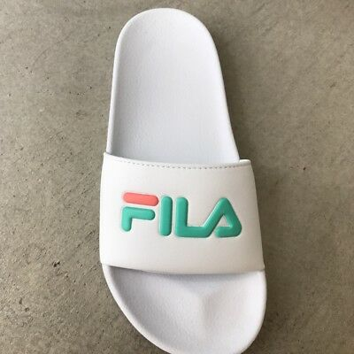 e6e8905f4ff8 NIB FILA WOMENS SLIDE SANDAL SHOE White Cockatoo Desert Flower 5 6 7 9 10