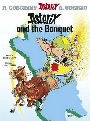 Asterix and the Banquet: Album 5 by Albert Uderzo Hardback Book The Cheap Fast