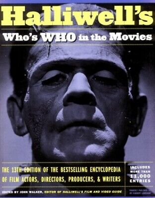 Halliwell's Who's Who in the Movies by Walker, John Paperback Book The Cheap