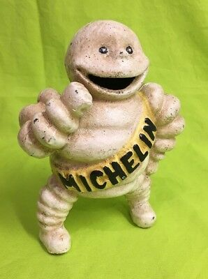 "Cast Iron Michelin Man Detroit 67548 Figurine  Coin Bank Advertising 6"" Tall #2"