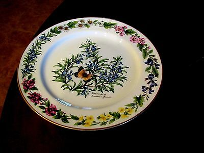 Royal Worcester China Worcester Herbs Gold Trim Rosemary Dinner Plate