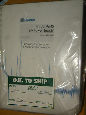 Canberra 9645 High Voltage Power Supply New & Sealed with Manual