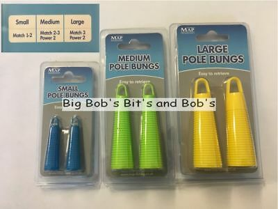 MAP Pole Bung Fishing Set 2 x large BUNGS 2 X Extractor Rods power kits size ??