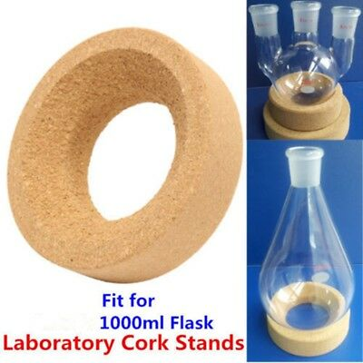 Laboratory Lab Cork Stands Holder Ring Mat 110mm Use For Glass Flask 1000ml TW
