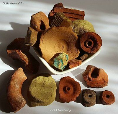 ⚱️ Ancient Roman • Byzantine Ceramic Pottery • Oil Lamp Fragments • Israel ⚱️