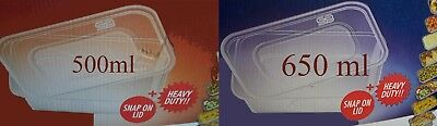 Satco Plastic Containers with Lids - Microwave - Freezer - Safe Food Storage