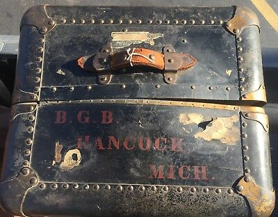 Early 1900 Indestructo Victorian Antique Vintage Steamer Trunk