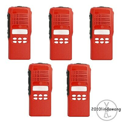 Lot 5 Red Replacement Housing For Motorola HT1250 limited-keypad Portable Radio
