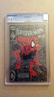 Spider-Man #1 CGC 9.8 White pages Silver Edition McFarlane Lizard NM+ Old label