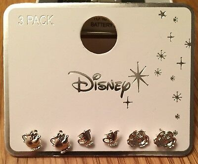 Chip Mrs Potts Earrings Beauty And The Beast Primark Disney 3 Pack Bnwt