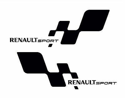 2 x RENAULT Sport Logo Premium STICKERS DECALS - ANY COLOUR