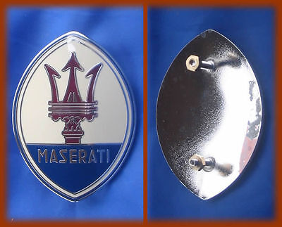 Maserati Biturbo - Stemma Logo Badge Metallo Smaltato 65Mm