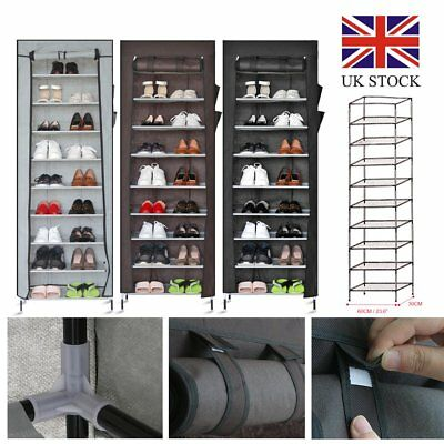 Dustproof 10 Tier Shoes Cabinet Storage Organizer Shoe Rack Stand Holds 27  Pairs