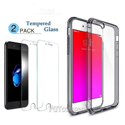 Hybrid Shockproof Clear TPU Hard Bumper Cover For iPhone XS Max 6 7 8 Plus Case