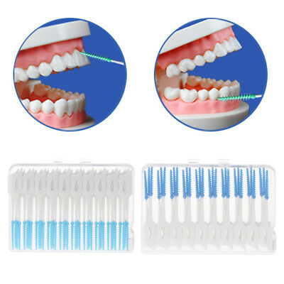 40pcs/Lot Interdental Brush Dental Floss Teeth Oral Clean Double Head Toothpick