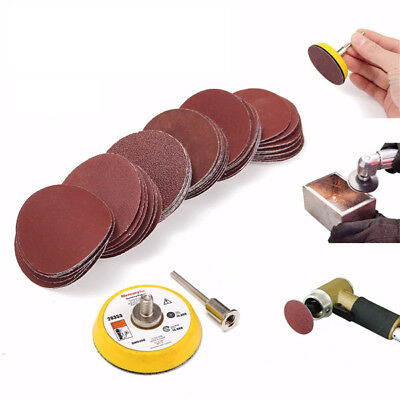 2 Inch 50mm Hook and Loop Sanding Pad 3mm Shank with 60pcs Sandpaper