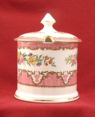 Crown Staffordshire Pink Tunis Jam Pot