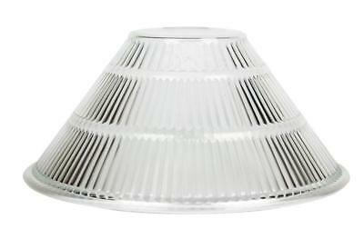 Oriel Holophane Lamp Shade DIY in Ribbed Clear Glass 30cm