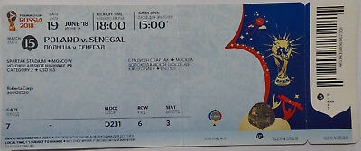 Used TICKET 2018 WM World Cup #15 POLAND - SENEGAL Polen in Moscow