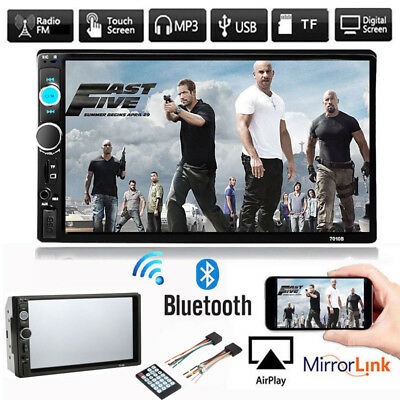 7 Inch Car Stereo Radio MP5 Player FM USB AUX Full HD Bluetooth Touch Screen SK