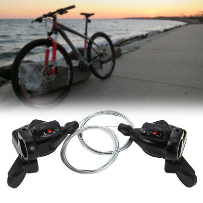 TOMOUNT Bike Shifter Levers Set 3 x 8 Speed Pair With Shift Cable Lightweight