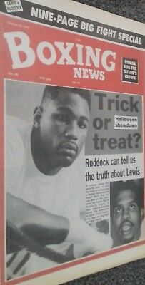 Oct 30Th    1992 Boxing  News  Lennox Lewis V Razor Ruddock Preview