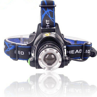 Tactical 50000LM 3Mode T6 LED Headlamp Zoomable Headlight Military Flashlight#